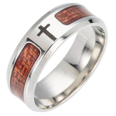 Wooden Cross Rings