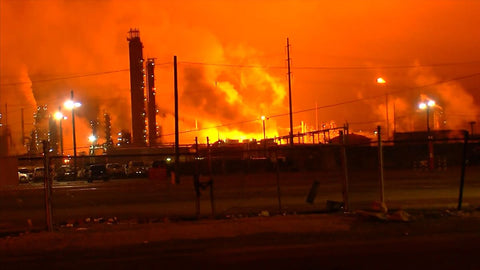 Fire at ExxonMobil refinery in Baton Rouge