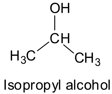 chemical structure of isopropyl alcohol