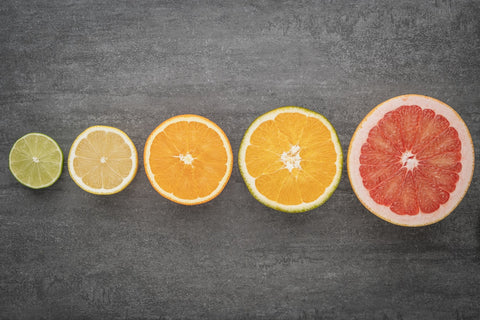 Lemon, lime, bergamot, grapefruit, and orange are all great essential oils that can be used separately or blended with other essential oils!