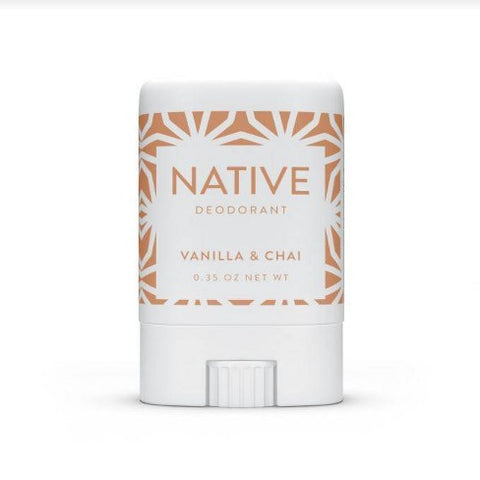 Native deodorant is made with clean ingredients, is cruelty free and even comes in a mini that can go with you every you may need to reapply.