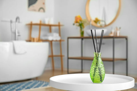 Scenting a room with essential oil reed diffusers