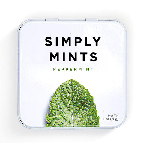 Simply Mints are made with clean ingredients and can help keep your breath smelling fresh and clean.