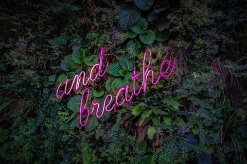 When you're feeling stressed just remember to breathe