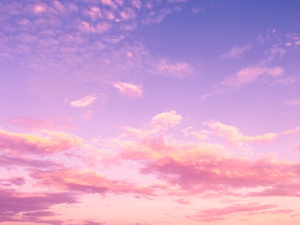 Pink and purple clouds