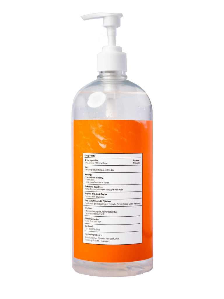 Citrus Hand Sanitizer Gel - 32 oz