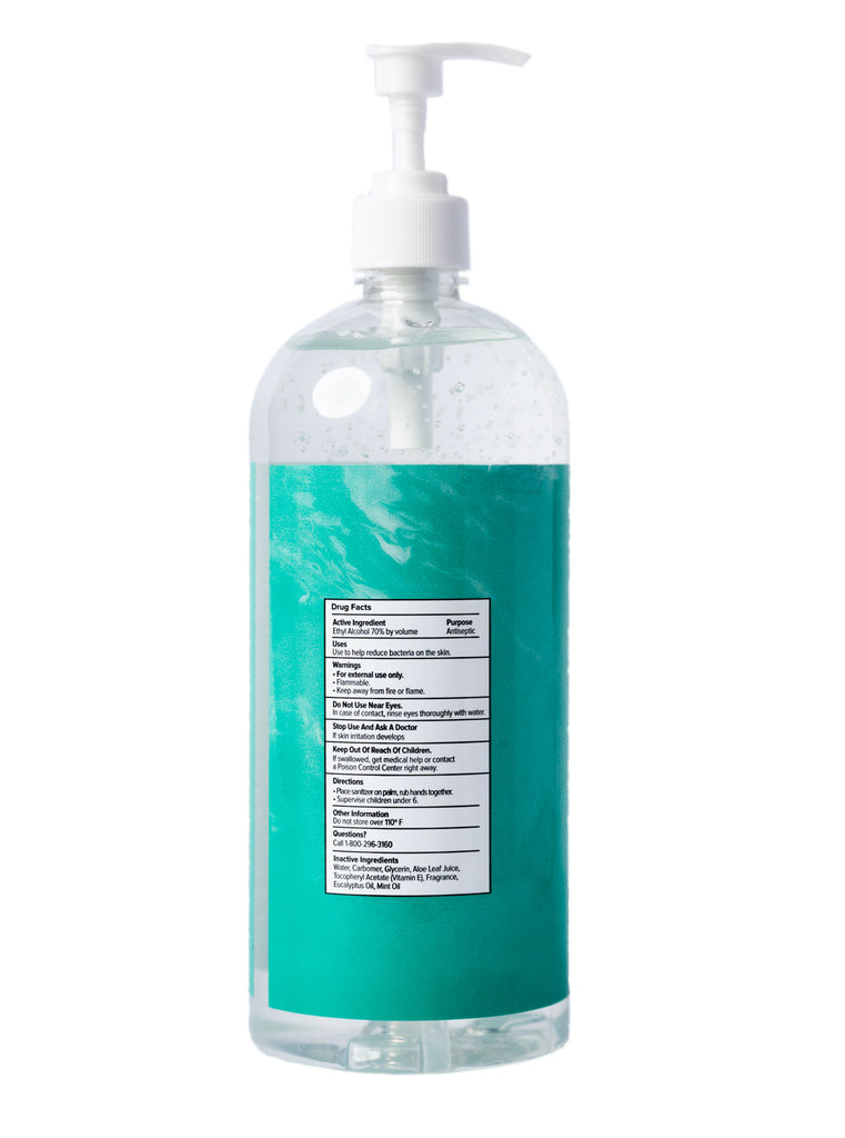 Eucalyptus Mint Hand Sanitizer Gel - 32 oz