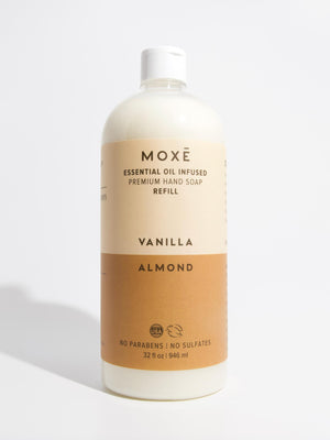 Load image into Gallery viewer, MOXĒ Vanilla Almond Refill Hand Soap