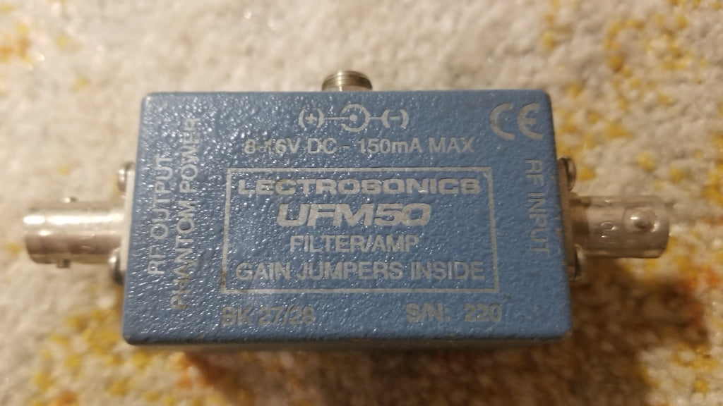Used Lectrosonics UFM50 - In-line UHF Filter and Amplifier Module