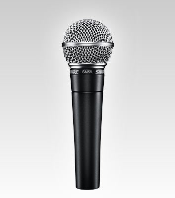 Shure SM58 LC Unidirectional (Cardioid) Dynamic Vocal Microphone Cable Not Included