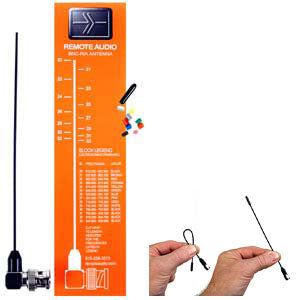 Remote Audio Miracle Whip Antenna for Lectrosonics Receivers (BNC Connector) (Blocks 21-33 / 537-862