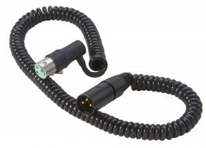 K-Tek K18NKĀ High Quality Audio Coiled 1.5 ft  XLRm to Right-Angle XLRfe Mic Cable