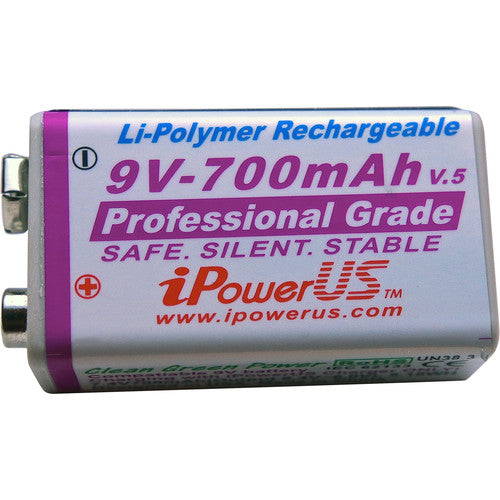 I-Power 9v 700mAh Li-Polymer Rechargeable Battery Each by ipower