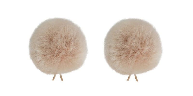 Bubblebee Industries The Twin ( 2 Pack) Windbubble Miniature Imitation Fur Windscreen