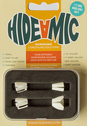 Hide-A-Mic Set for DPA Microphones: Bra-Holder, Shirt-Holder, T-Shirt-Holder, Tie-Holder