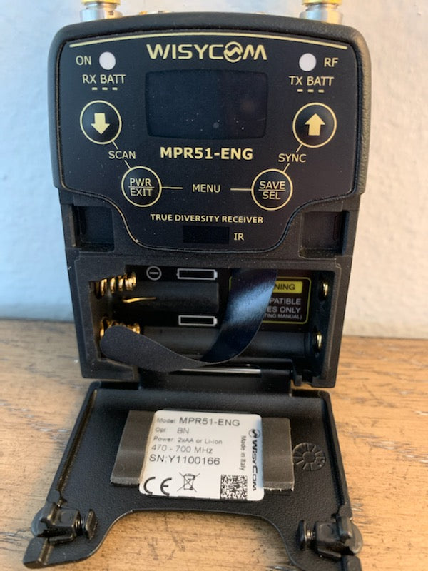 Used Wisycom MPR51-ENG Receiver (470 - 700 MHz)