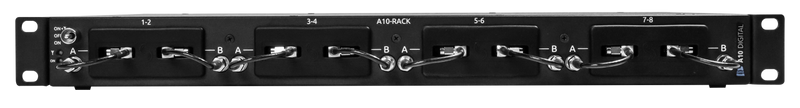 Audio Limited A10 Rack - 4 Slot-In Wireless Receiver Chassis with Antenna Distribution and Dante Output
