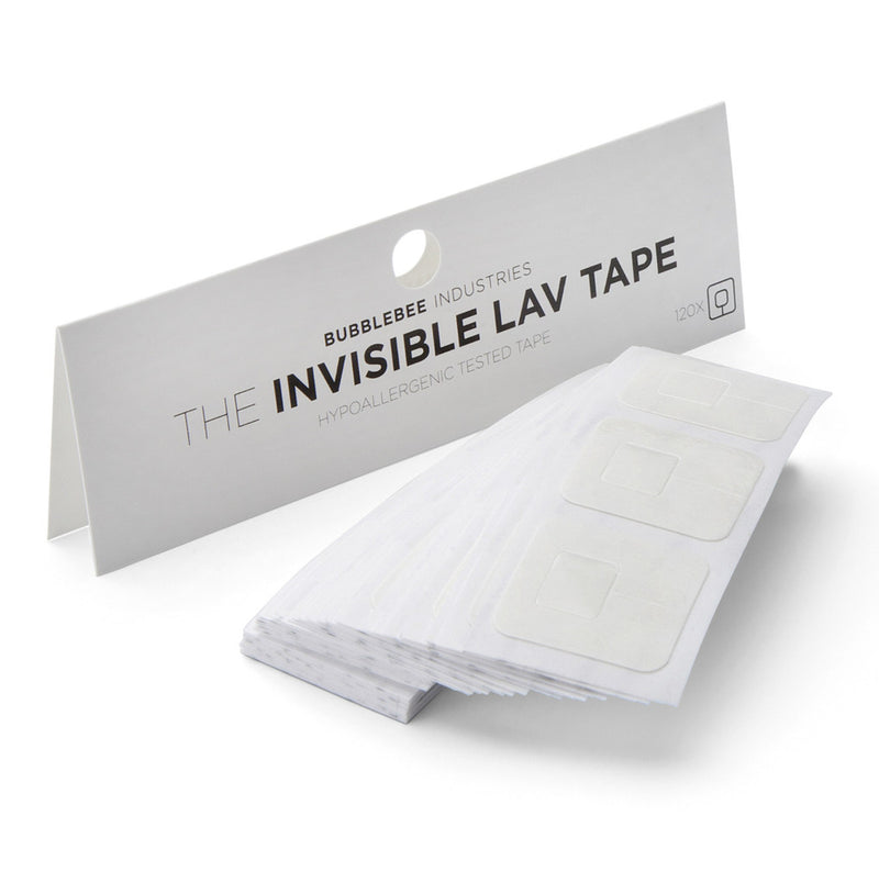 Bubblebee Industries Invisible Lav Tape: 120 Hypoallergenic Lav Tape Mounts