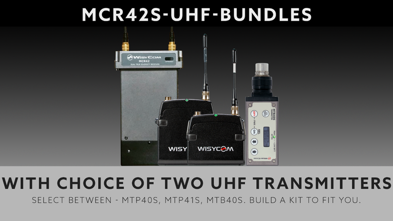 Wisycom MCR42 - UHF - Dual Channel Bundle