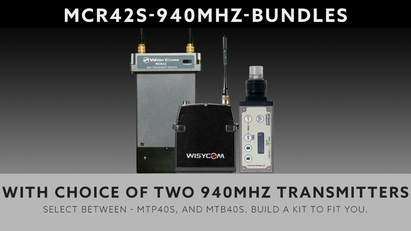 Wisycom MCR42 - Band 8 - Dual Channel Bundle Builder