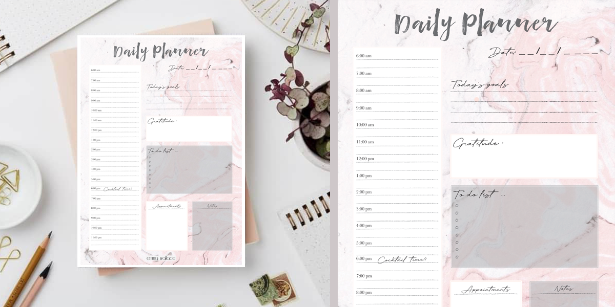 Make A List - Free Downloadable Daily Planner!
