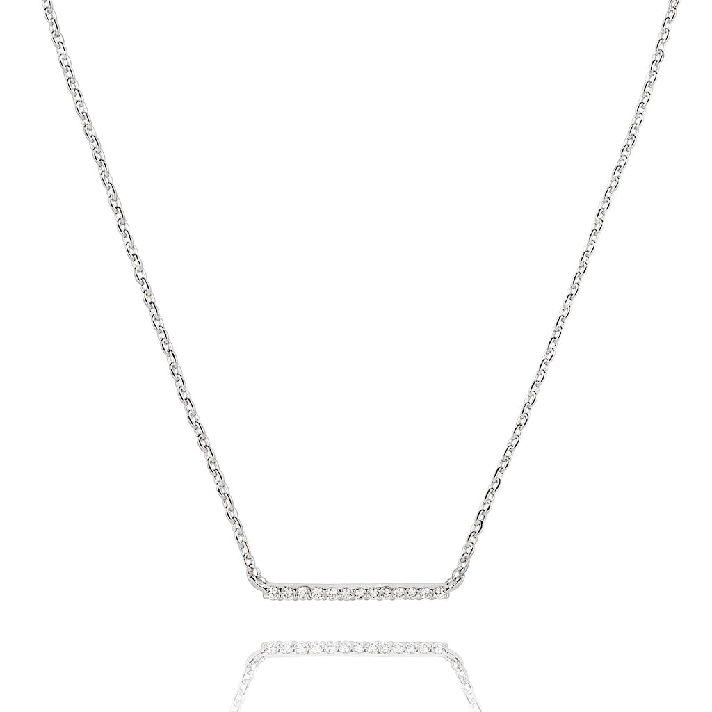 Astrid & Miyu - Walk the Line Small Necklace - Silver