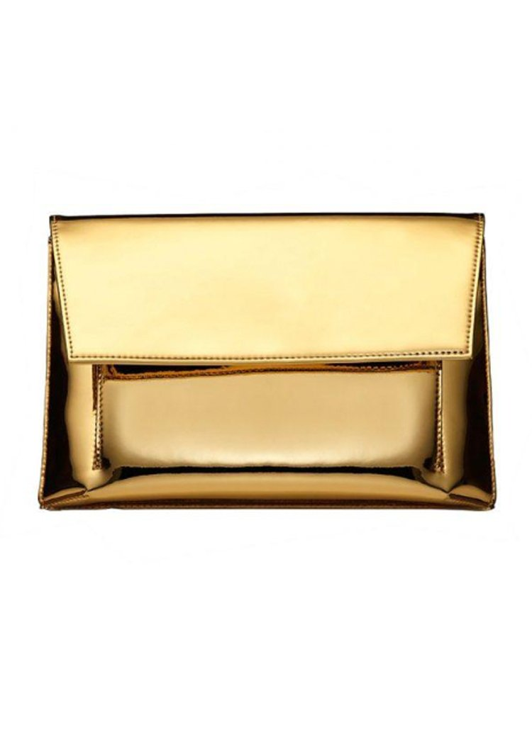 Iris Maree Gold Clutch Bag