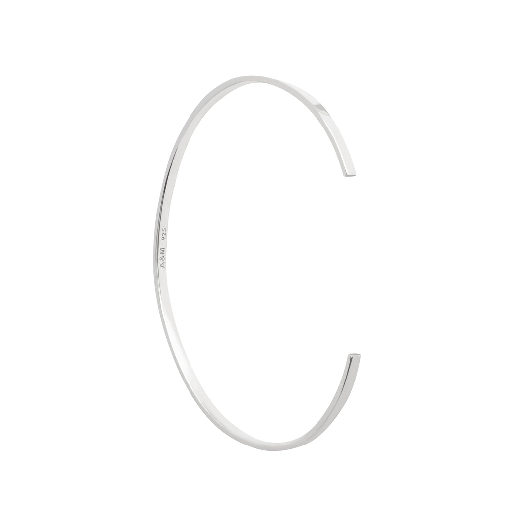 Astrid & Miyu - Crossing Lines Bangle - Silver