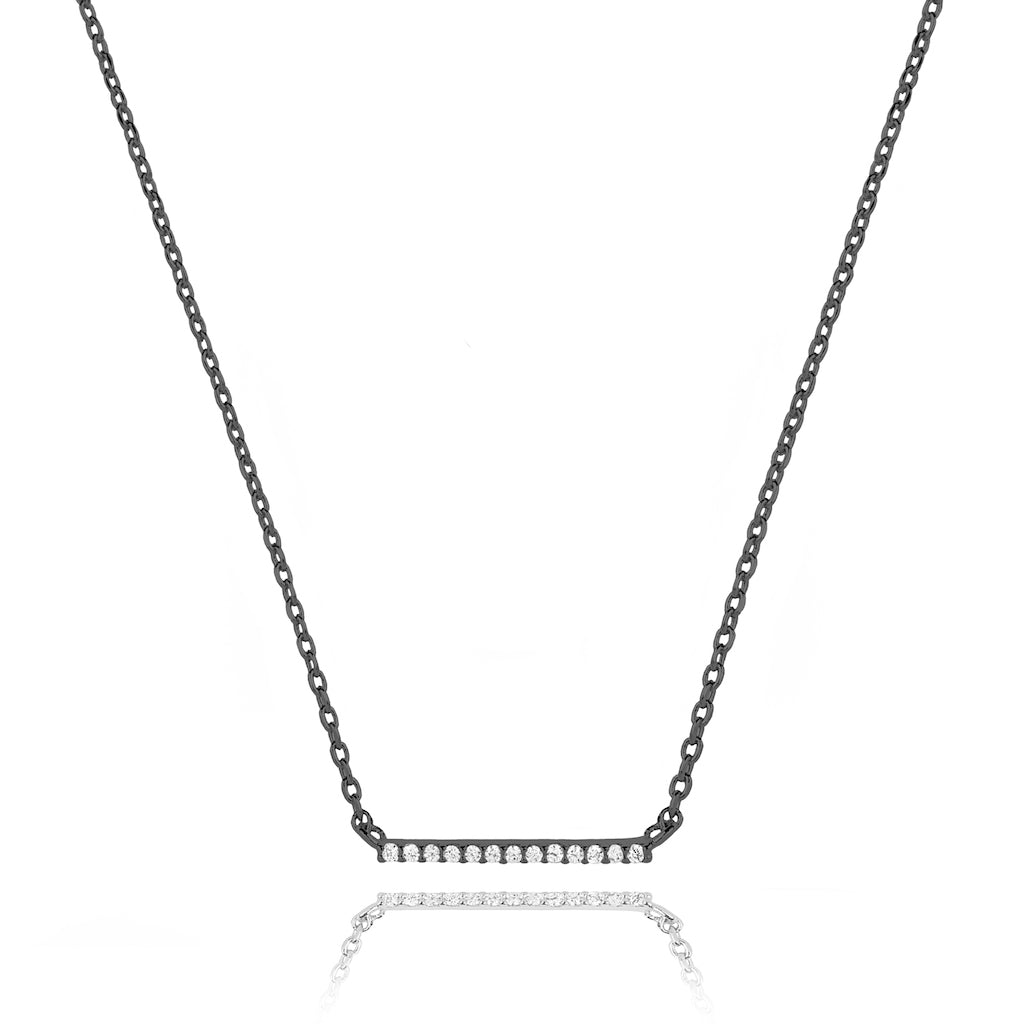 Astrid & Miyu - Walk the Line Small Necklace - Gunmetal