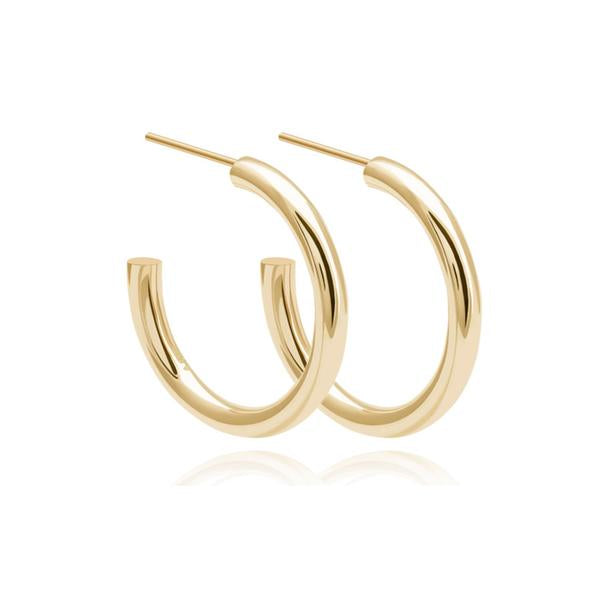 Astrid & Miyu - Basic Large Hoop Earrings - Gold