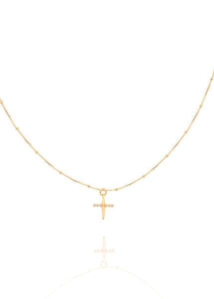 Astrid & Miyu - Mystic Cross Necklace - Gold