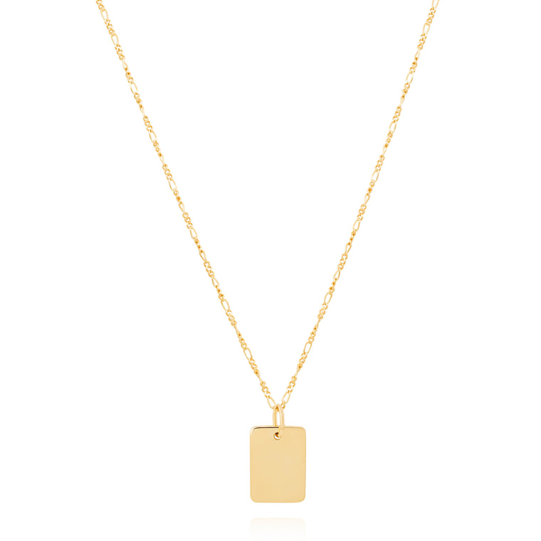Astrid & Miyu - Basic 2.0 Large ID Necklace - Gold