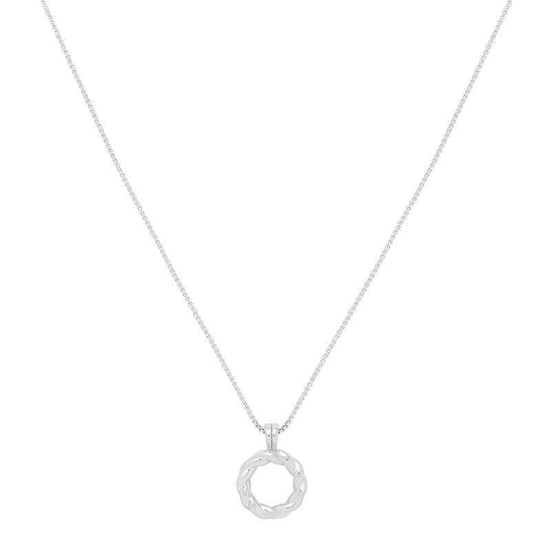 Astrid & Miyu -Rope Ring Pendant Necklace- Silver