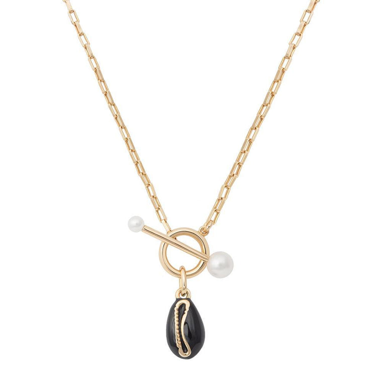 Astrid & Miyu - Pearl Shell Toggle Necklace
