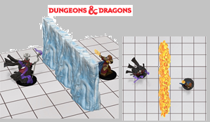 D&D Miniatures: Spell Effects: Wall of Fire & Wall of Ice