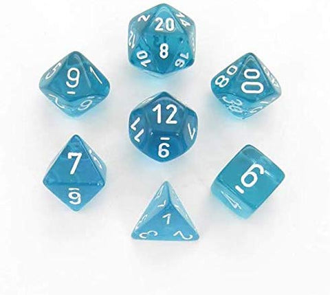 Translucent Polyhedral 7-Die Set - Multiple Colours