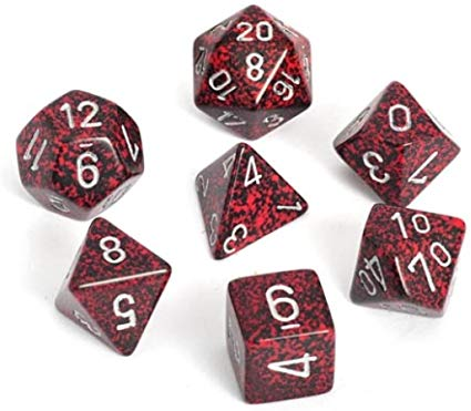 Speckled Polyhedral 7-Die Set - Multiple Colours