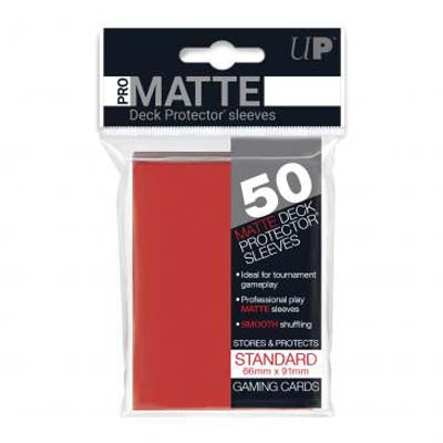 UP Pro-Matte Red Standard Deck Sleeves (50ct)