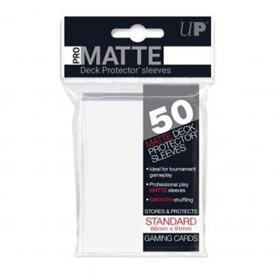 UP Pro-Matte White Standard Deck Sleeves (50ct)