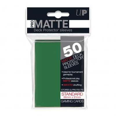 UP Pro-Matte Green Standard Deck Sleeves (50ct)