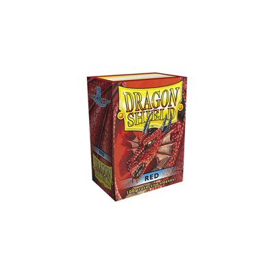 Dragon Shield Red Classic Sleeves (100ct)