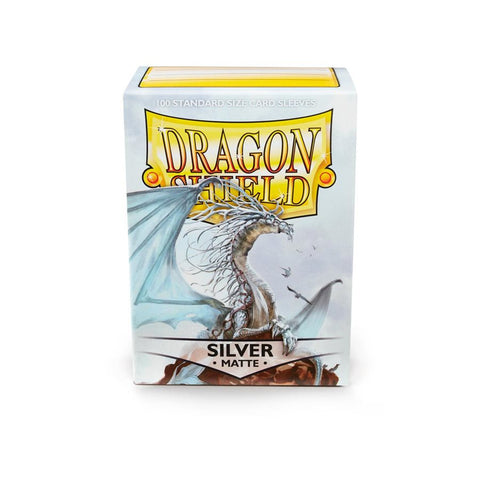 Dragon Shield Silver Matte Sleeves (100ct)