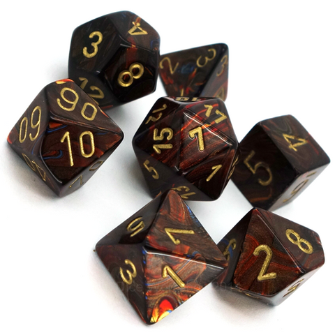 Scarab Polyhedral 7-Die Set - Multiple Colours