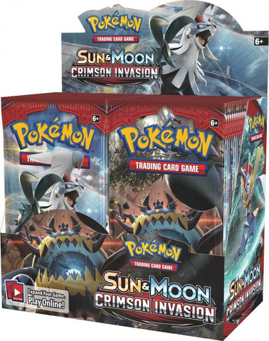 Pokémon: Sun & Moon: Crimson Invasion Booster Packs