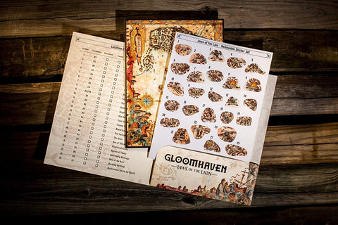 Gloomhaven: Jaws of the Lion: Removable Sticker Set & Map