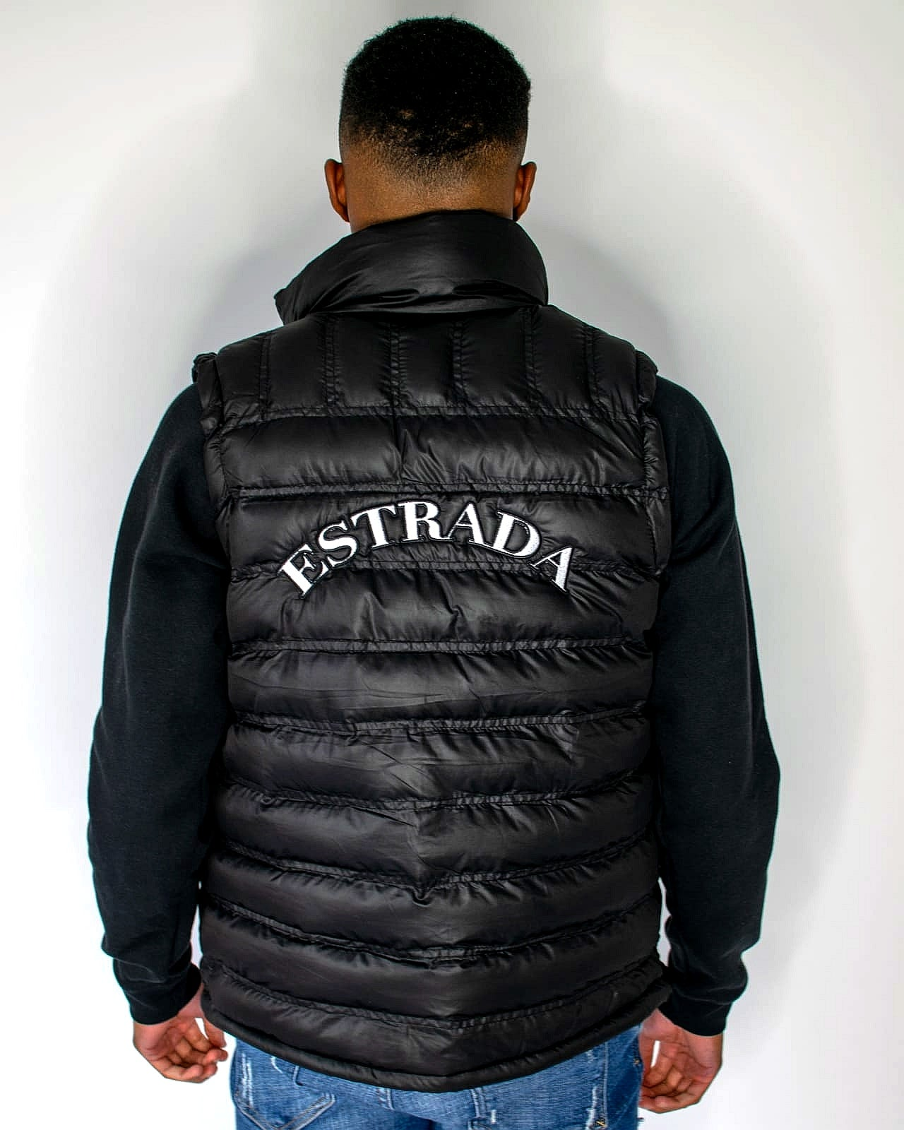 Estrada Padded Gilet In Black