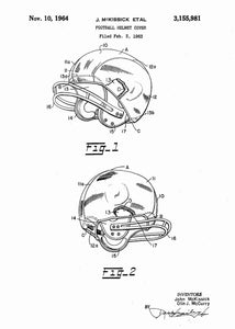 american football helmet patent print, american football nfl poster shown in the style white