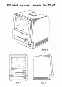 apple macintosh patent print, apple macintosh poste rin the style white