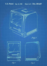 apple macintosh patent print, apple macintosh poste rin the style blueprint
