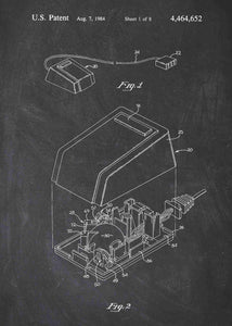 apple mouse patent print, apple mouse poster in the style chalkboard